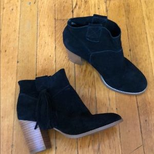 Crown Vintage black suede booties 6.5